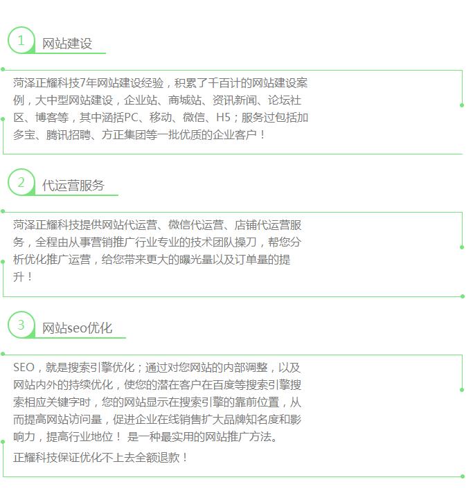 菏泽正耀科技服务项目
